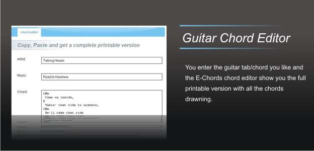 E-Chords - Sign In on your account